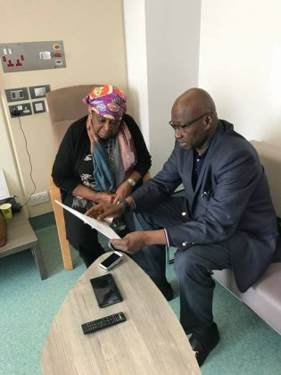 SGF Visits Dr Ekuweme In London Hospital; Conveys President Buhari's Goodwill Message