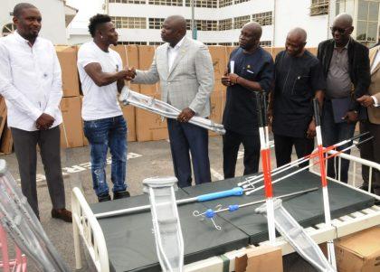 Obafemi Martins Donates Hospital Equipment, Mobility Aids to Lagos Govt.