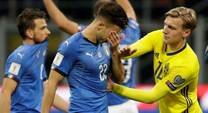 Italy Stunned by Sweden, Fail to Qualify for World Cup In 60 Years