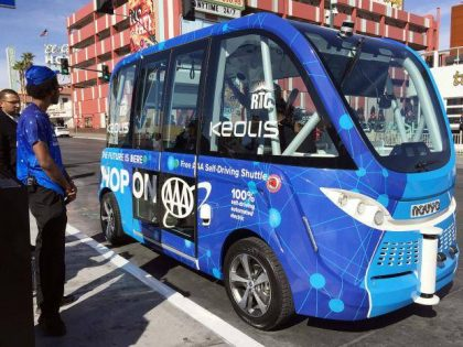 2 Hours Into Launch, Self-driving Bus Crashes