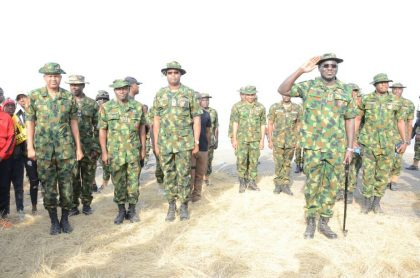 COAS TY Buratai, Guards Brigade Ends 2017 Atop Aso Rock