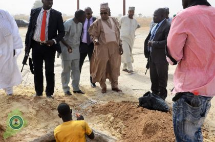 Rebuilding Borno: Governor Kashim Shettima inspects ongoing projects