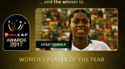 Mo Salah, Asisat Oshoala win AITEO CAF Awards for 2017