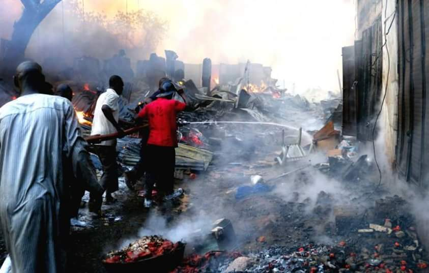 President Buhari Sympathises with Kano Fish Market Fire Victims