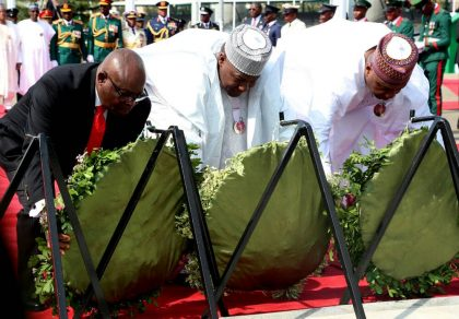 Armed Forces Remembrance Day: Buhari, Osinbajo, Saraki Others Honour Fallen Heroes