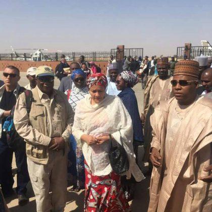 Gov. Shettima, Amina Tours Bama Inspects 11,000 Homes, 170 Calssrooms Built