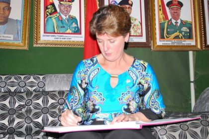 Canadian Minister, Marie-Claude Commends @HQNigerianArmy