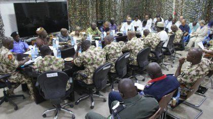 Theatre Commander Meets Heads of Security Agencies, NGOs in Maiduguri