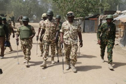 COAS, TY Buratai Visits Troops at The Front-line