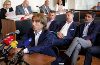 Real Madrid's Luka Modric charged with false testimony
