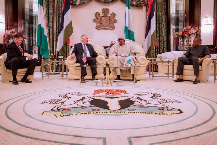 President Buhari to Mr. Rex Tillerson: Negotiations Underway to Rescue Captured Schoolgirls