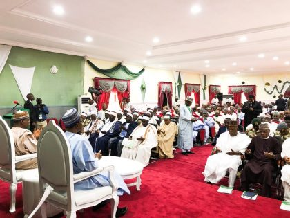 President Buhari in Dapchi Assures Residence on Kidnapped School Girls