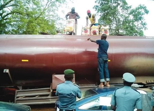 Rice Concealed in Petrol Tank Intercepted By Customs