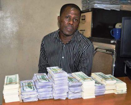 Samson of Masaka Residence in Nasarawa State Specializes in Fake Dollar Notes