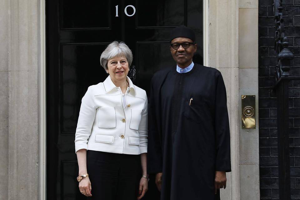 What President Buhari Discussed with British Prime Minister Theresa May
