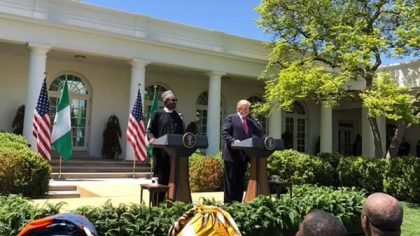 #PMBinDC: President Buhari's Speech on His Meeting with President Trump