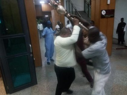 Chaos in Nigerian Senate as 'hoodlums' steal mace in packed chamber