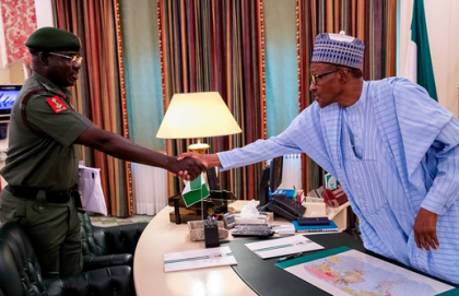 Buratai Briefs President Buhari on Security Situation