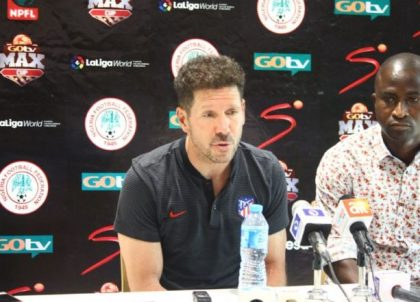 Atletico Madrid Coach, Diego Simeone Rates Super Eagles Team B High