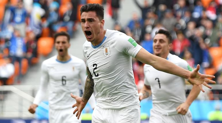 Late Goal Gives Uruguay a Narrow Win Over Egypt