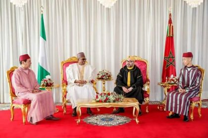 President Buhari Holds Talk with King Mohammad of Morocco