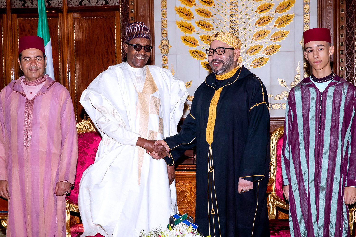 JUST IN: President Buhari Signs Agreements with King Muhammad VI