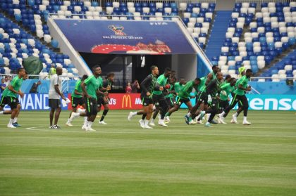 Super Eagles arrive Russian Federation  for 2018 World Cup campaign