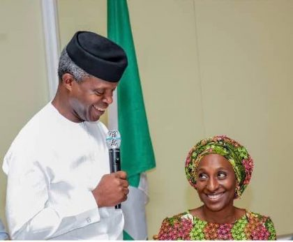 VP Prof. Osinbajo's Sweet Message to Wife Dolapo on Her Birthday