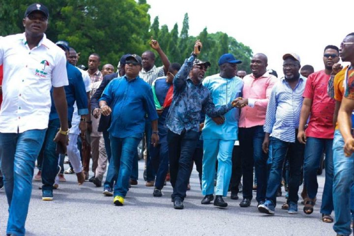 Ekiti: PDP Protests at INEC Headquarters, demands credible elections