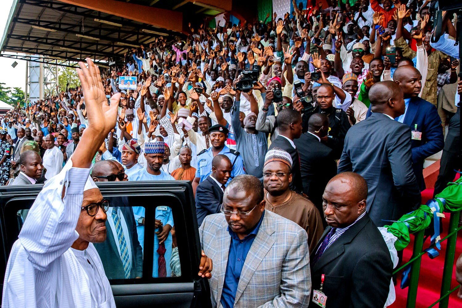 """God Will Fish out The Bad Eggs Among Us"", President Buhari to Supporters in Bauchi"