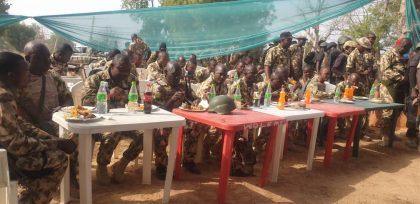 Army Chief Holds Christmas Luncheon to Troops of Operation Lafiya Dole
