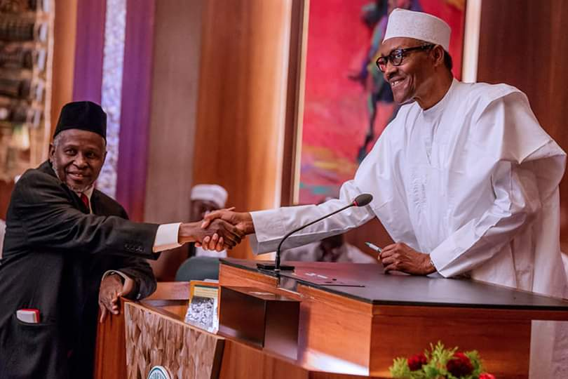 President Muhammadu Buhari's Speech on the Suspension of CJN Walter Onnoghen and Swearing of Ibrahim as Acting Chief Justice of Nigeria
