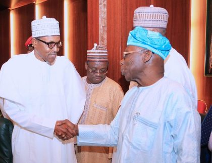 President Buhari Commends Chief Olusegun Obasanjo's Commitment to Nigeria