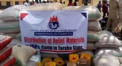 Living Faith Church Donates Relief Materials to IDPs in Taraba