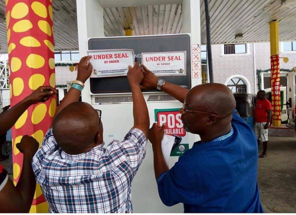 10 Filling Stations Sealed for Irregularities