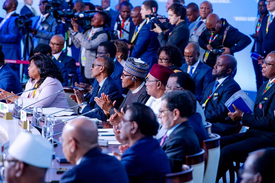 President Buhari's Statement at the 1st Russia-Africa Summit in Sochi, Russia