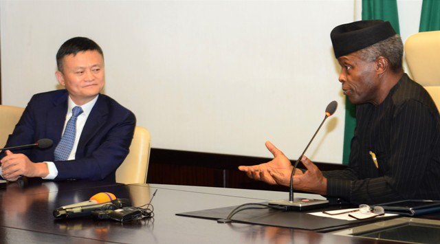 Osinbajo, Alibaba Co-founder Discuss Opportunities in Nigeria's Digital Economy