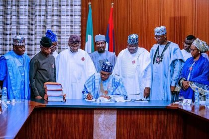 President Buhari's Speech at the Signing into Law of the 2020 Appropriation Bill