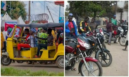 Lagos bans commercial motorcyclists, tricycles
