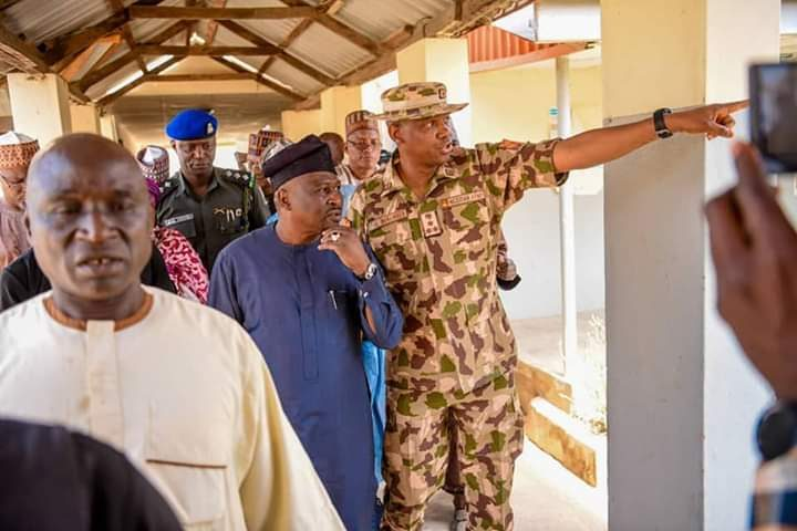 On The Spot Assessment: Governor Fintiri Visits Garkida, Assures Community   of Reinforced Security, Palliatives