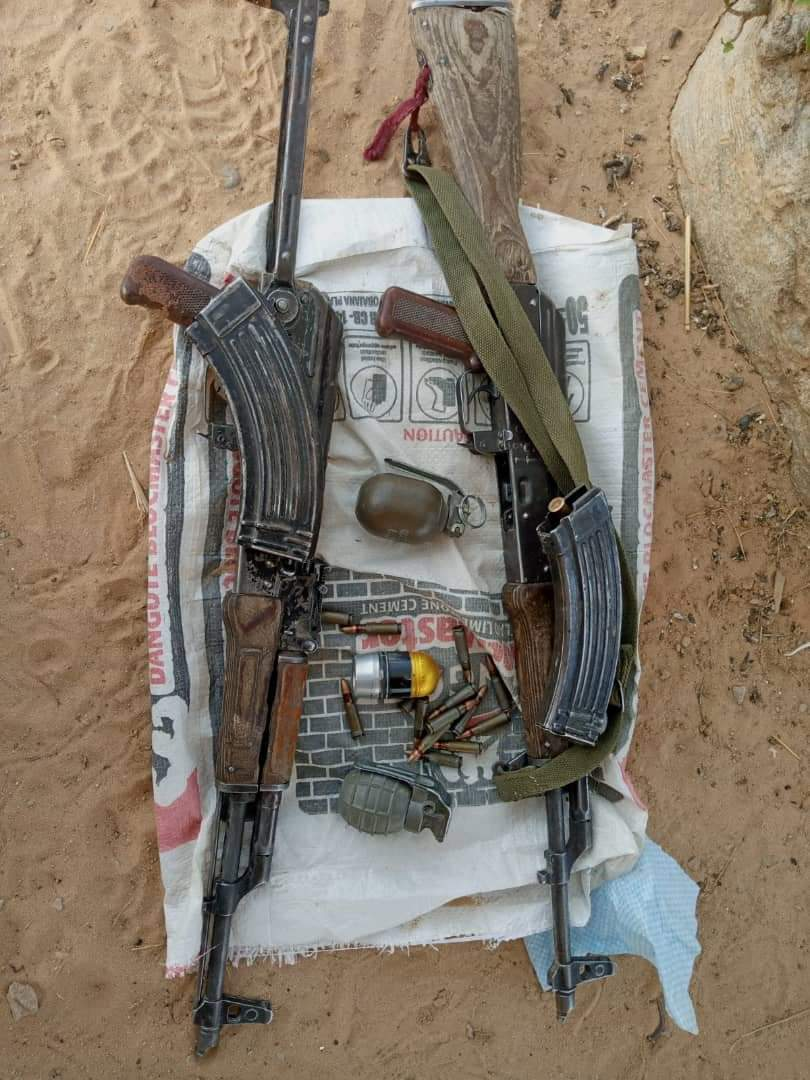 Troops Destroyed Boko Haram/ISWAP Gun Trucks and Recovered Weapons at Gajigana