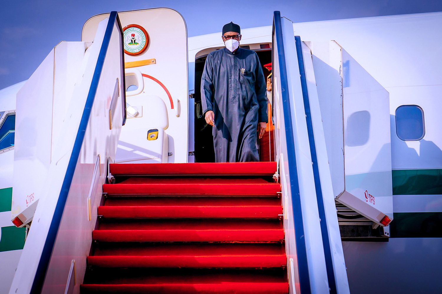 Photo: President Buhari Returns Home After Private Trip